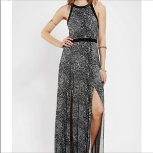 Silence + noise fall sexy maxi dress w/ slits